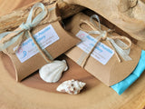 Eco Friendlier Recycled Paper Pillow Gift Box with Tissue, Ribbon and Twine