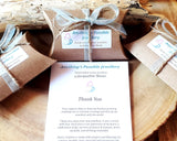 Recycled Pape Pillow Gift Box, Ribbon and Twine