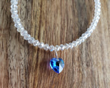Something Blue Crystal Ankle Bracelet
