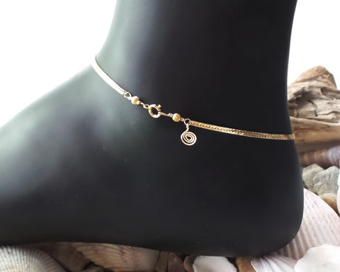 Gold Eternity Anklet-Ankle Bracelet