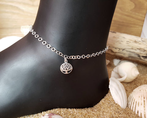 925 Sterling Silver 3mm Flat Link Anchor Chain Anklet Ankle Beach Bracelet 9