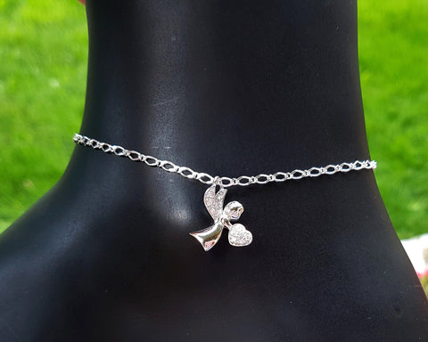 Brilliant Angel Anklet-Ankle Bracelet