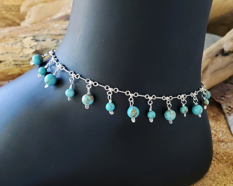 Turquoise Excitement Anklet, Ankle Bracelet