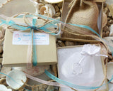 Recycled Papper Gift Box with Natural Jute and Organza Jewellery Pouches