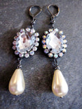 Fabulous Crystal Pearl Drop Earrings
