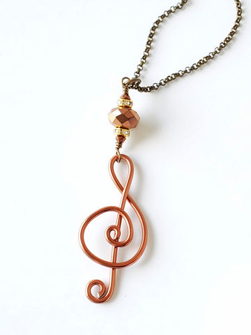 Rich Musical Pendant Necklace