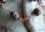 Eco Venetian Copper Wire Work Bracelet