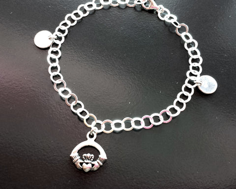 Personalized Cladough Double Initial Charm Bracelet