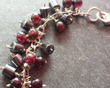 Sumac Tree in Winter Garnet Hematite Cluster Bracelet