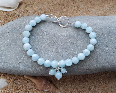 Aquamarine Peaceful Dream Beaded Gemstone Bracelet