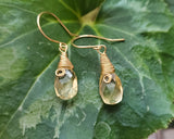 Golden Citrine Dream Earrings, 14K Gold Filled