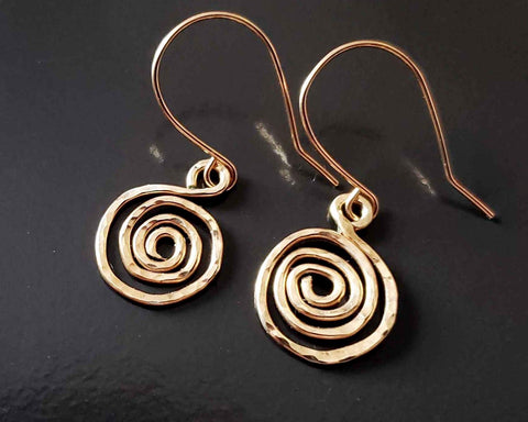 Celtic Eternity Coil Earrings, Gold Infinity Earrings,