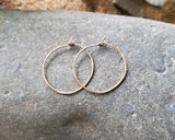Gold Hoop Earrings, Delicate Gold Hoops, 14k Gold Filled, Minimalist