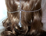 Silver Crystal Art Deco Headpiece