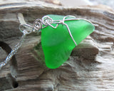 Lake Ontario Glass Pendant-Sea Glass Pendant-Beach Glass Pendant By Jacqueline Neves-Anything's Possible Jewellery