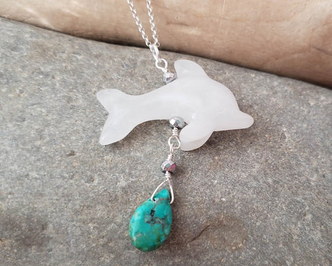 Eternal Ocean Joy Dolphin Pendant