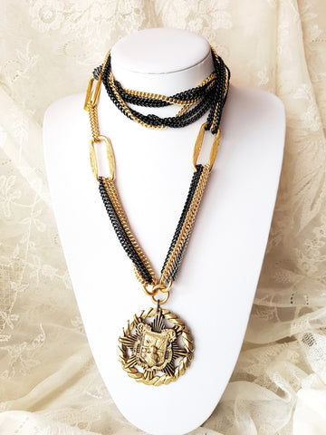 Coat Of Arms Statement Necklace