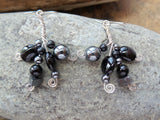 Midnight Dance Onyx, Hematite Sterling Silver Earrings