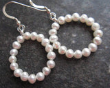 Pearl Eternity Hoop Earrings
