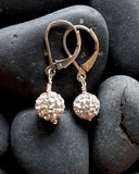 Sterling Silver Sparkle Ball Earrings