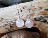 Rose Quartz Passion Dangle Earrings