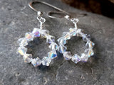 Crystal Fire Hoop Earrings
