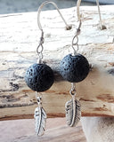 Feather Essential Oil Diffuser Earrings