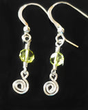 Celtic Eternity Coil Peridot Earrings