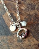Personalized Birthstone, Initial Claddough Necklace