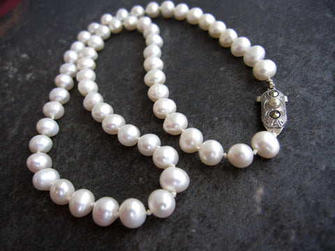 New Glory Vintage Inspired Freshwater Cultured Pearl Necklace