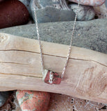 Floating Pyrite Necklace