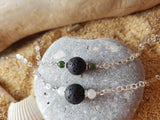Two Birthstone Essential Oil Diffuser Necklace
