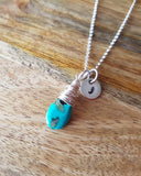 Personalized Turquoise Bohemian Pendant Necklace