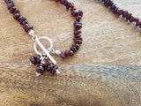 Crystal Garnet Serenity Necklace