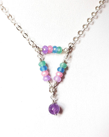 Today, Tomorrow and Forever Jade, Amethyst Necklace