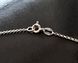 Italian Sterling Silver chain with Spring Ring Clasp