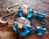 Flowers on the water Earrings