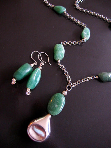 New Beginnings Aventurine Necklace & Earring Set