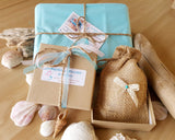 Recycled Paper Gift Box with Natural Jute  Jewellery Pouches