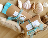 Recycled Kraft Paper Pillow Gift Box & Ribbon