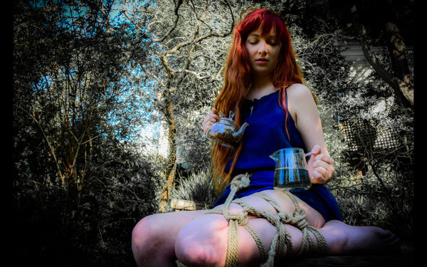 Tea & Shibari is a classic pairing in foggy San Francisco