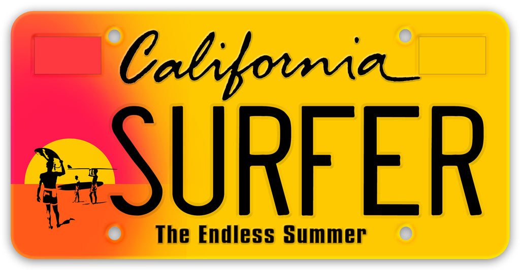 "Want to make ""The Endless Summer"" special interest license plate a reality? Go to SURFPLATE.COM and pre-register to show your support!"
