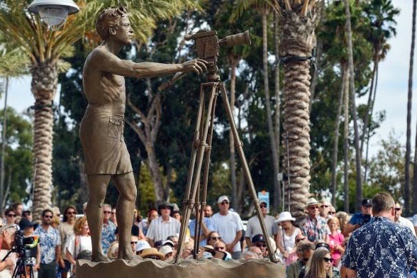 Bruce Brown Immortalized with Statue in Dana Point, CA