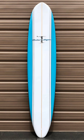 "8'6"" Robert August 'What I Ride' Round Tail w/ Box + Futures"