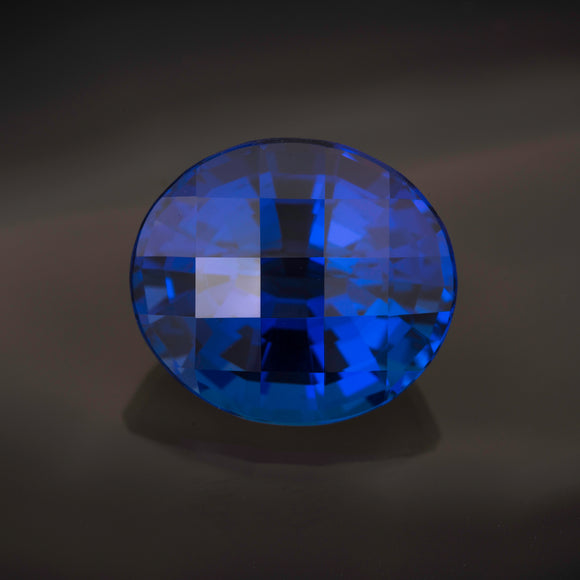 Blue Oval Tanzanite