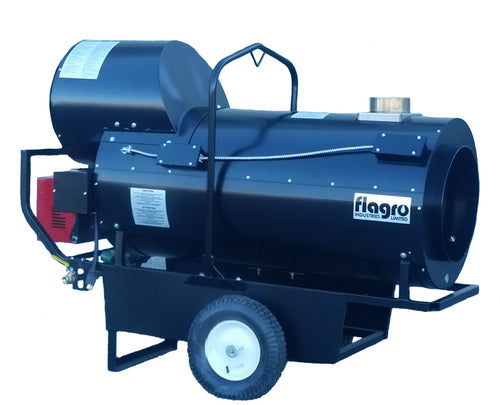 Flagro Propane/Natural Gas Indirect Fired Heater - Recirculating Hood | 390,000 BTU Facility Equipment - Cleanflow