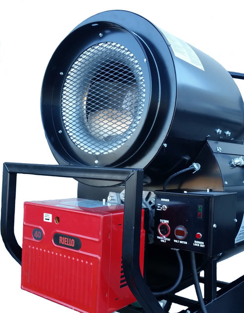 Flagro Propane/Natural Gas Indirect Fired Heater - Recirculating Hood | 390,000 BTU