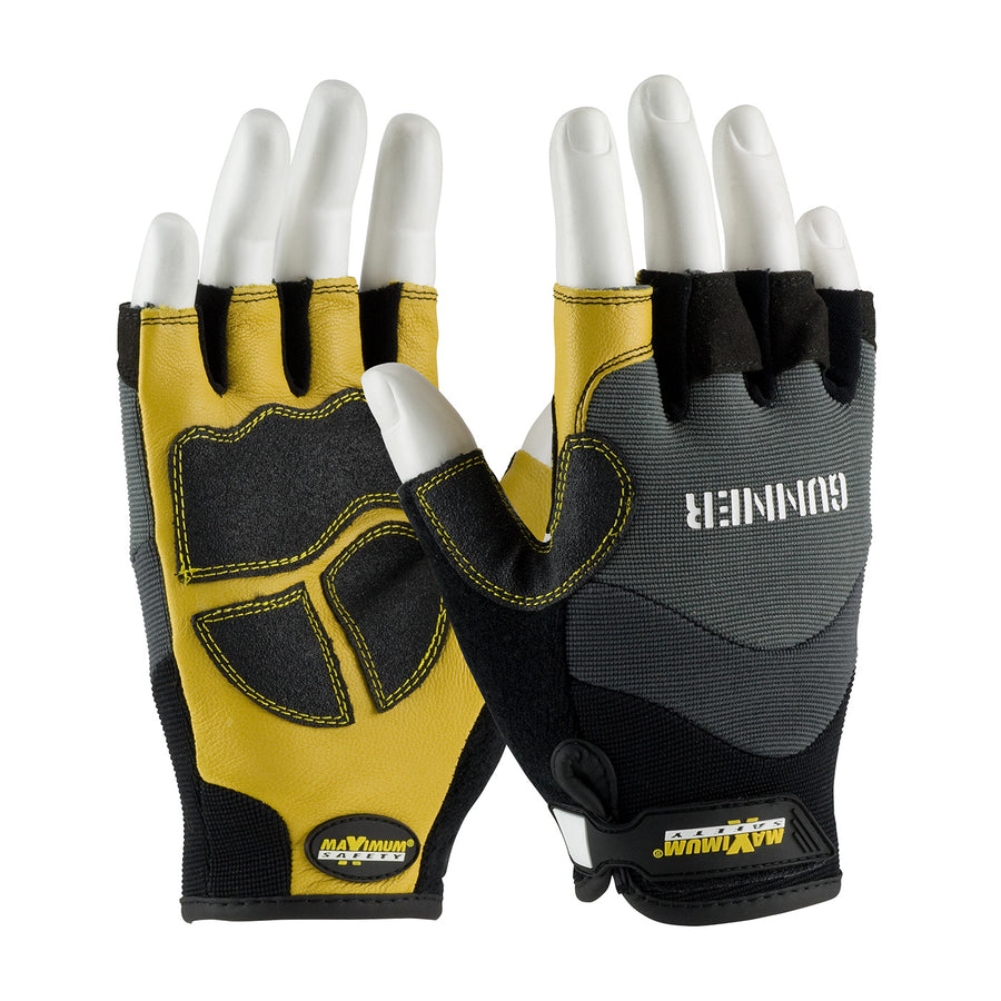Maximum Safety® Gunner™ Open Fingertip Mechanic's Gloves Work Gloves and Hats - Cleanflow