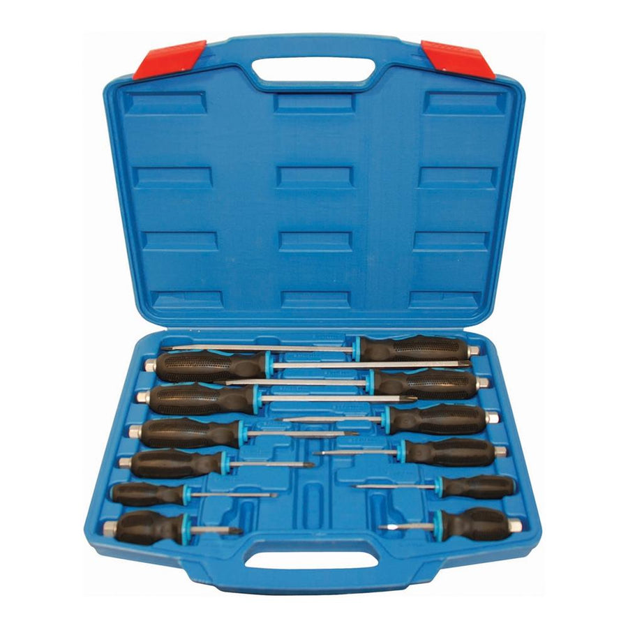 12-Piece Jobsite Screwdriver Set Mechanic Tools - Cleanflow