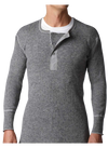 Stanfield's 1315 Heavy Weight Wool Long Sleeve Shirt | Grey | Sizes S - 3XL Work Wear - Cleanflow